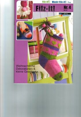 "Handicraft Book "" Filz-It !"" Instructions Smc-Nr.4-Pg S1 Frisk Wet Dry"