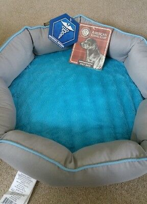 "American Kennel Club - Orthopedic Pet Bed - gray / turquoise 18"" x 18"" NEW NWT"