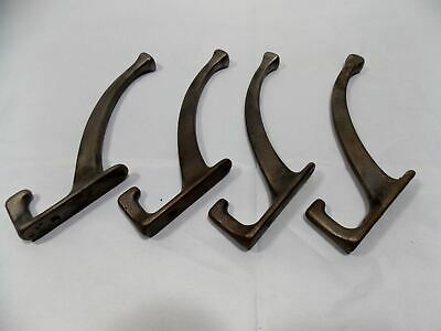 Antique  set 4 Cast Iron Hooks from period Double Coat Hook