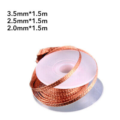 Desoldering Braid Solder Remover Copper Wick Wire Repair Tool 1.5M 2/3/3.5mm