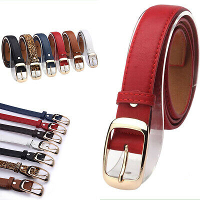 Women Paint Leather Alloy Pin Buckle Waist Strap Belts Waistband Great AU Local