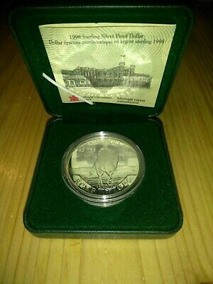 Proof Dollar Silver Coins Royal Canadian Mint Set 1994, 1996, 1998, 1999