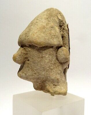 Tete Grecque Antique En Terre Cuite - 600/300 Bc Ancient Cypriot Terracotta Head