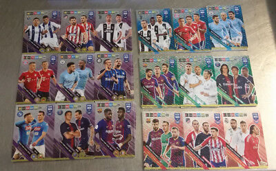 Full Set Multiple 18/18 Fifa 365 2019 Adrenalyn Xl Panini Rare Trio Wall 2018/19