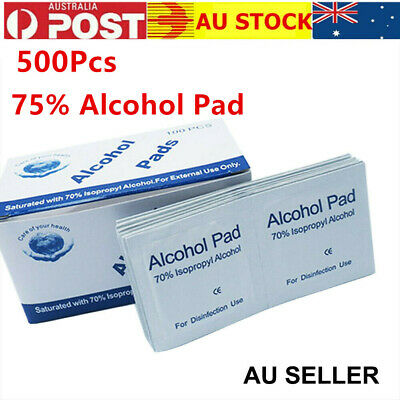 500Pcs 70% Alcohol Pad Antiseptic Swab Wipes Disposable Nail Cleanser Skin Prep