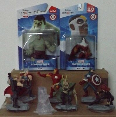 Disney Infinity 2.0 Complete Marvel Avengers Figures &  Playset Crystal.