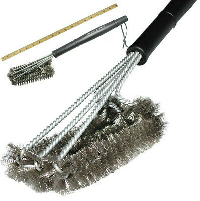 """5× BBQ Grill Brush Cleaner 18"""" Grilling Tool Cleaning Stainless Steel Woven Wire"""