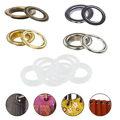 40mm Rust Proof Brass Eyelets Grommets Plastic Washers Home Repair PVC Banners