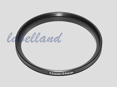 52mm-54mm Filter Adaptor Ring Converts 52mm lens thread to 54mm 52-54 Step-Up UK