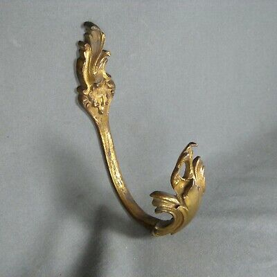 One Antique French Rococo Style Massive Ormulu Curtain Tieback Ornate Bronze