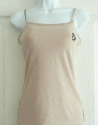Stay New M&S Secret SUPPORT Cami COTTON Bra Vest Fawn Padded Cups Top Size 8-18