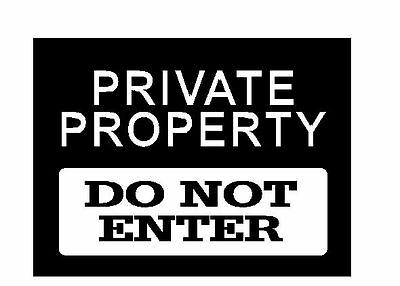 Private Property Sign boy girl bedroom funny Vinyl wall art Decal Sticker