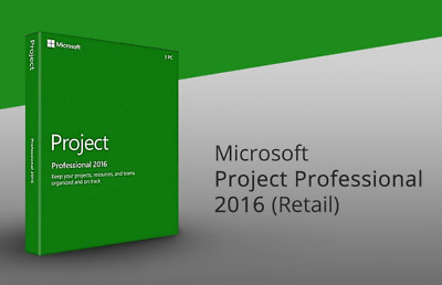 MICROSOFT Project Pro 2016 DVD Français,English,Deutsch,Italiano,Version Complet