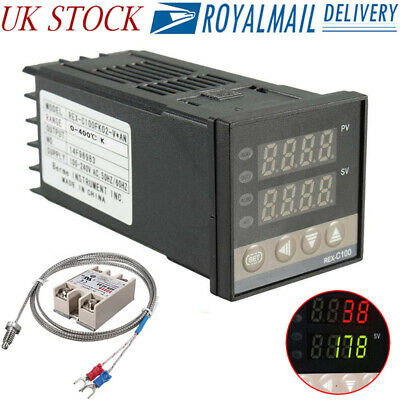 0-999℃ Alarm REX-C100 Digital LED PID Temperature Controller Kits AC110V-220V EC
