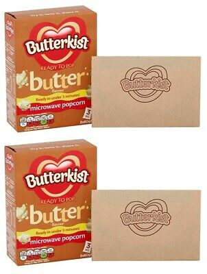 Butterkist Ready to Pop Butter Flavour Microwave Popcorn 2 packs@180g each