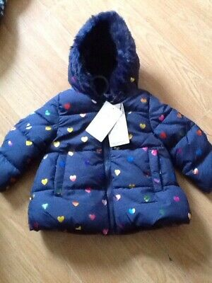 Girls Coat Age 3/6 Months  From M&S Bnwt Rrp £28