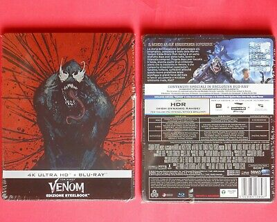 venom blu ray + 4k uhd steelbook metal box edition marvel uomo ragno tom hardy v