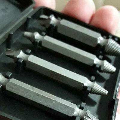 1 Set 4 PCS Screw Extractor Drill Bits Remover Out Stud Tools Useful EEA