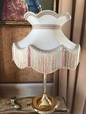Vintage Downton Abbey Antique style Traditional Victorian greensilkmixLampshade