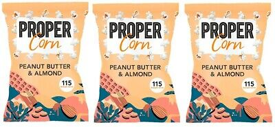 Propercorn Peanut Butter And Almond Popcorn 3x90 G