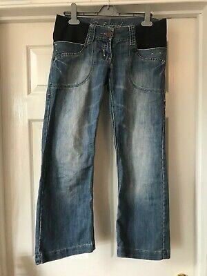 NEXT Maternity The Boyfriend Under Bump Blue Jeans Size 8S