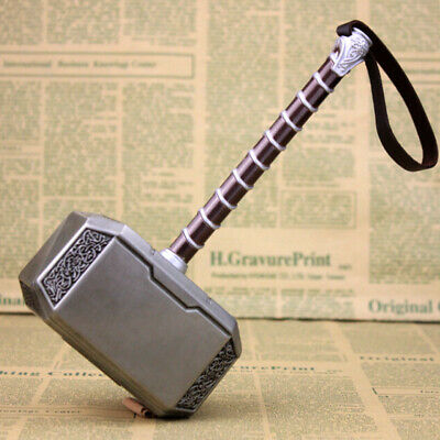 Avengers Endgame Metal Mjolnir Hammer Thor Cosplay Prop Weapon Collection Gift