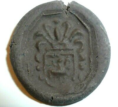 VIKING Ancient SEAL RING with Clear Gem Stone - Circa 7th - 9th Century AD  /947