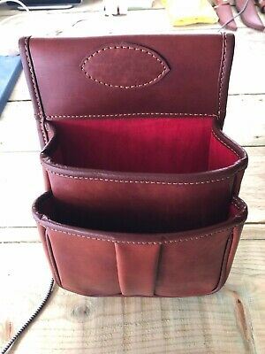 Cartridge Pouch real leather 50 cartridge bag, Skeet Pouch, DTL