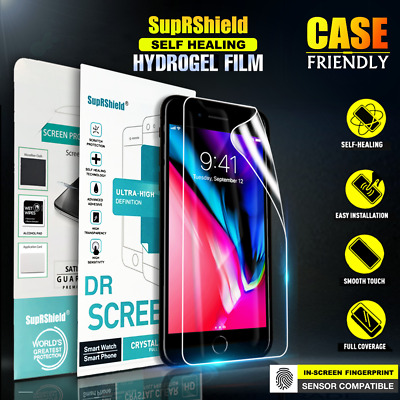 SupRShield iPhone 7 8 Plus X XS Max XR HYDROGEL Full Coverage Screen Protector