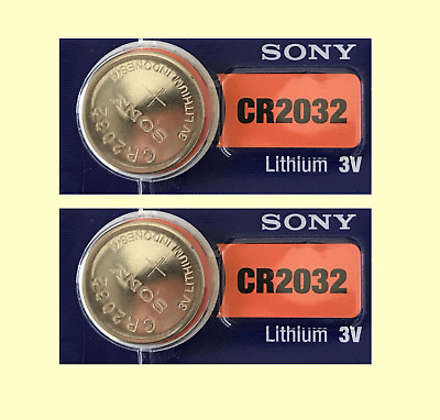 2 count of SONY CR2032 DL2032 CMOS Lithium 3V Watch Battery Exp 2028 USA seller