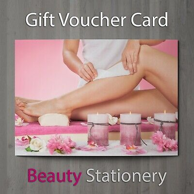 Gift Voucher Beauty Salon Blank Card Waxing Sugaring Hair Removal A7 + Env.