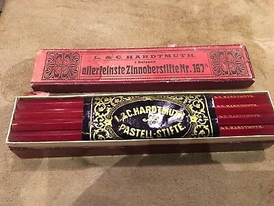 Vintage Red Pencils Boxed Scandinavian