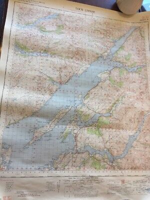Vintage Ordnance Survey Of Great Britain Map Loch Linnhe