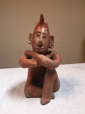 Seated Redware Figure, Jalisco, West Mexico ca 20th century