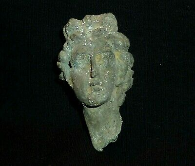 ROMAN Ancient BUST of Goddess DIANA - Statuette - Circa 100-300 AD      -957