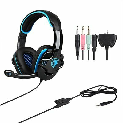 SA708GT Gaming Headset Surround Sound Headphone with Mic For PC PS4 XBOX PUBG