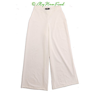 474e90610b9e Missguided Nordstrom Pants Size 8 Stretch Crepe Wide Leg High Rise White  NEW B64