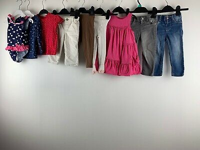 Girls 12/18 Months Clothes Bundle Gap Next Trousers Dress Denim Jeans Swimsuit