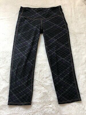 3068a1547c7ff ATHLETA SPLICED FIRE Be Free Capri Black Grey Camo Tight Legging ...
