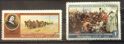 Stamp Russia 1956 SG#1999-2000. 26th anniv. Death of Repin. MNH OG** VF++#OF823