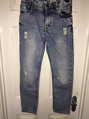 Boys NEXT Blue Stone Washed Denim Jeans Age 12yrs Adjustable Waist
