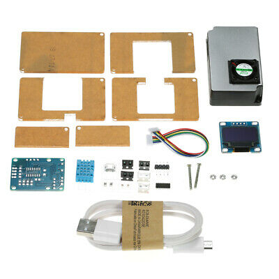 DIY PM2.5 Environment Detector Kit Air Quality Monitor & Transparent Case V4B6