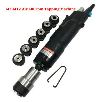 Air Pneumatic 400rpm Tapping Machine Hand Tapper & Chuck M3/M4/M5/(M6-8)/M10/M12