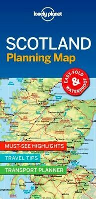 Lonely Planet Scotland Planning Map - FREE SHIPPING - NEW