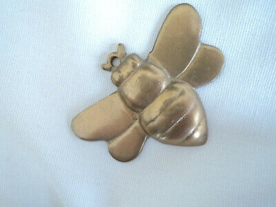 Solid Brass Cast Figure Of Bee Insect Small Desk Paperweight