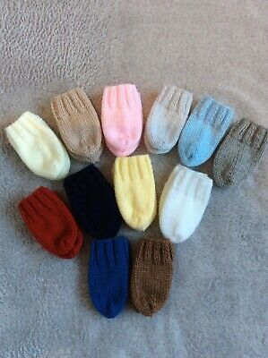 Brand New Hand Knitted Baby Mittens