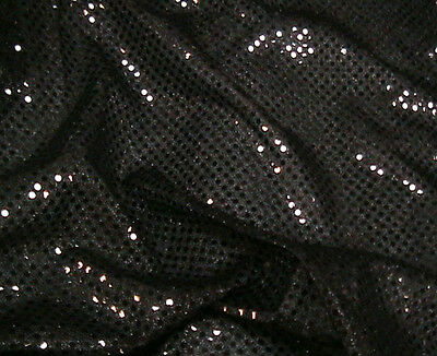Turquoise Metallic Shimmery Shiny Sequin Netting Fabric Material 112cm width