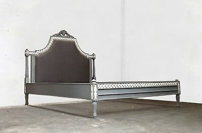 French Kingsize Marseilles Bed Grey Distressed Hand Made Brand New