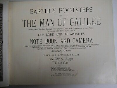 Antique Book, Biblical History, 1894, Earthly Footsteps of The Man of Galilee