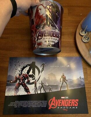 Marvel avengers endgame Collectible Tin Amc Popcorn Poster Iron Man thanos IMAX